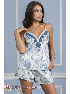 """Пижама с шортами """"Блю Роуз"""" 9362"""