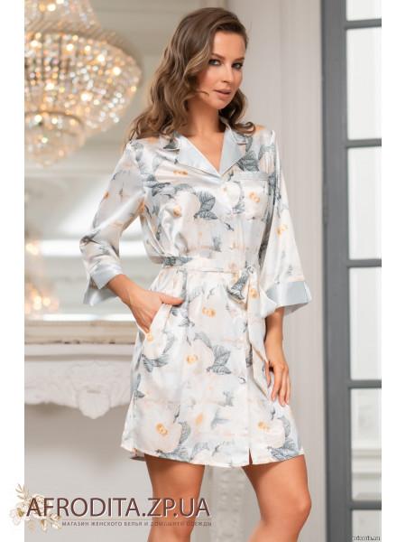 """Женский халат-рубашка """"Софи"""" 8847"""