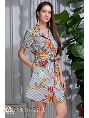 "Женский халат-рубашка ""Нателла"" 6857"