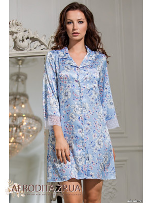 """Рубашка """"Николь"""" 9917 голубой"""
