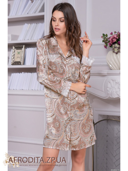"""Женская рубашка-халат """"Клементина"""" 3457"""
