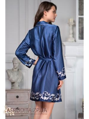 """Атласный халат-рубашка """"Барокко"""" 8617"""