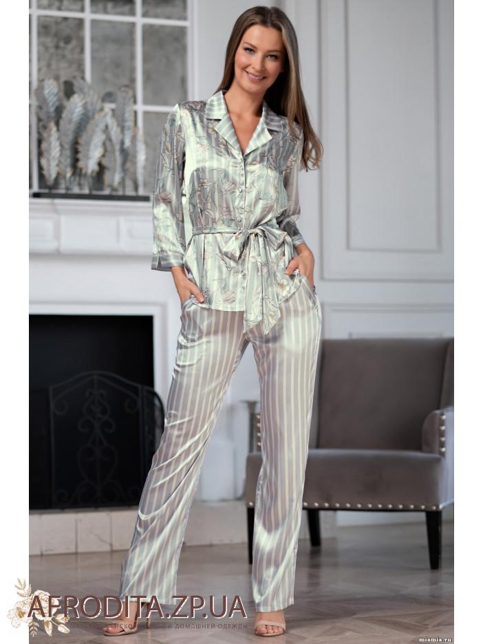 пижма с брюками штанами женская