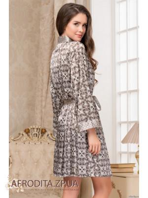 """Атласный женский халат """"Патриция"""" 8413"""