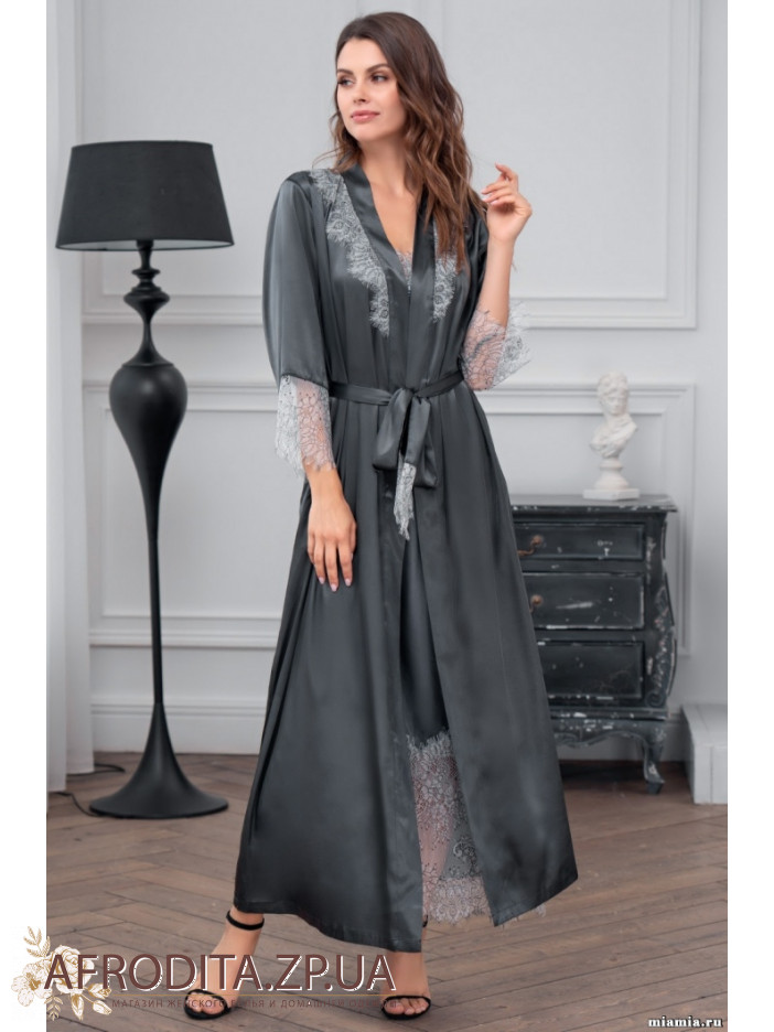 женский халат шелковый